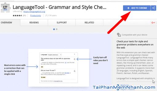 Cài đặt kiểm tra chính tả vào Chrome