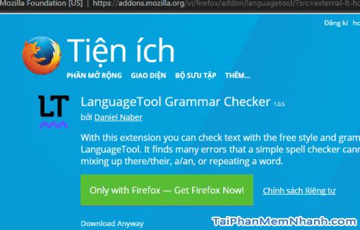 Sửa lỗi chính tả tiếng anh trên Firefox