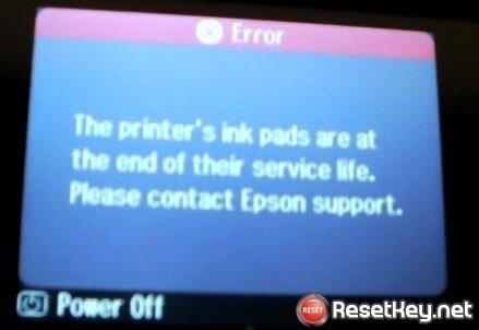 Máy in Epson bị lỗi tràn bộ đếm mực thải