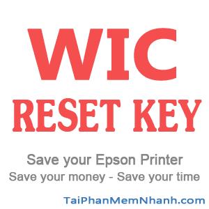tải và cài đặt phần mềm reset máy in epson - wic reset