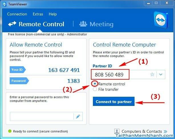 Cách sử dụng phần mềm quản lý máy tính từ xa Teamviewer + Hình 3