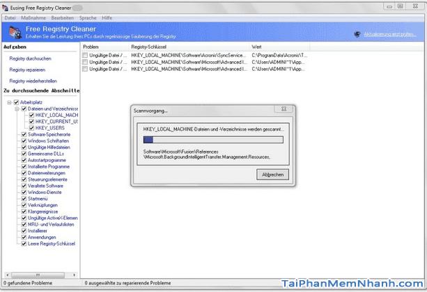 Tải và cài đặt Eusing Free Registry Cleaner cho Windows + Hình 3