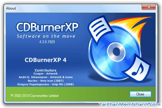 Tải cài đặt phần mềm ghi đĩa CD, DVD - CDBurnerXP cho máy tính + Hình 2