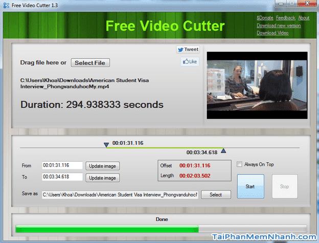 Hướng dẫn tải và cài đặt phần mềm Free Video Cutter cho LapTop + Hình 2