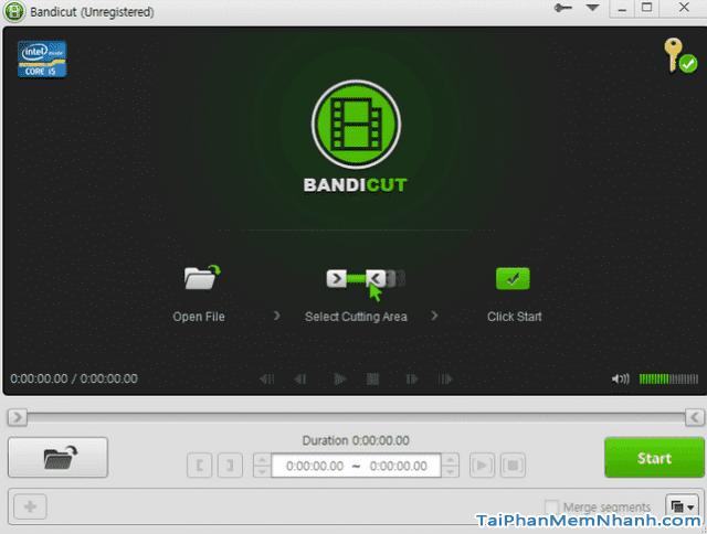 Tải phần mềm cắt khung hình video Bandicut cho Windows + Hình 2