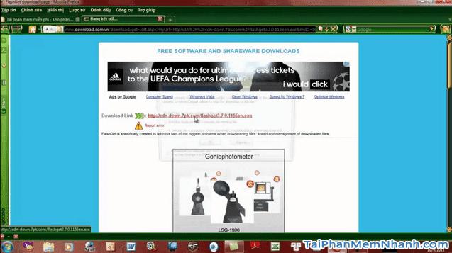 Tải và cài đặt phần mềm download file, dữ liệu - FlashGet cho PC + Hình 4
