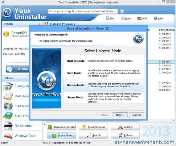 Tải Your Uninstaller Pro - Phần mềm Gỡ bỏ cài đặt trên PC + Hình 4