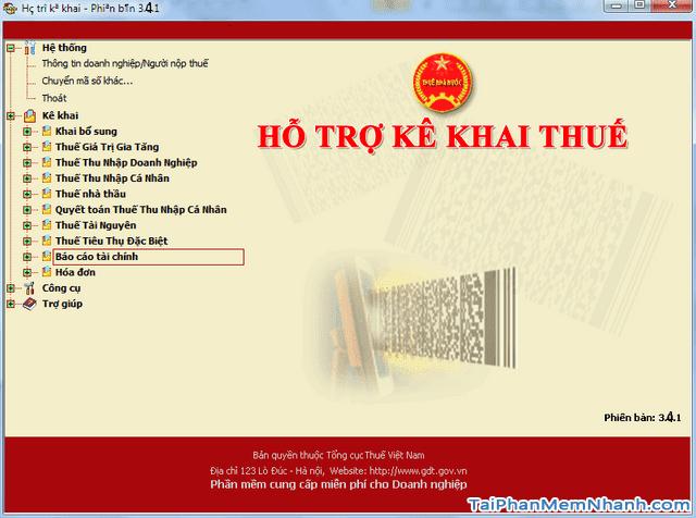 Tải phần mềm hỗ trợ kê khai thuế qua mạng - HTKK cho PC + Hình 3