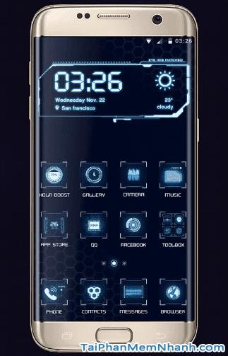 giao diện rất công nghệ, viễn tưởng cho Android