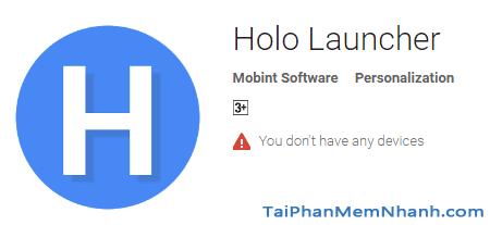 Cài đặt Holo Launcher cho android