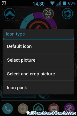 Chọn ảnh và cắt ảnh để làm icon cho android