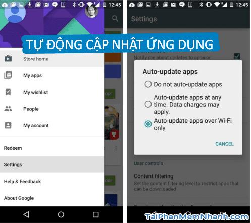 Google Play Store còn có chức năng tự động cập nhật ứng dụng