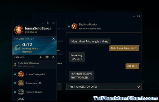 client mới giúp người chơi lol kết nối tốt hơn