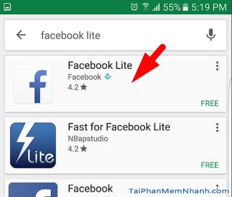 biểu tượng ứng dụng Facebook lite