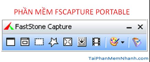 phần mềm quay màn hình, chụp ảnh màn hình fscapture