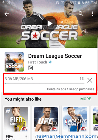 Cách cài game Dream League Soccer bước 6