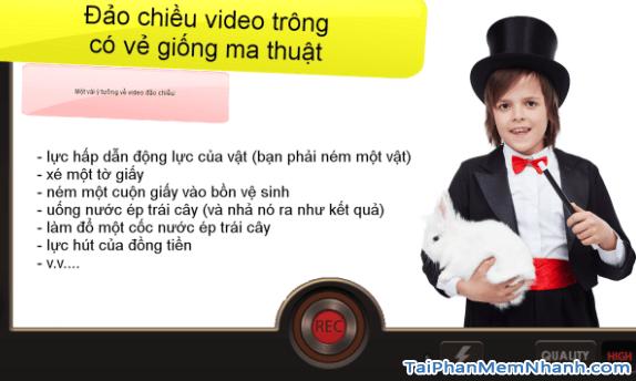 tạo video ảo thuật với ứng dụng đảo chiều video