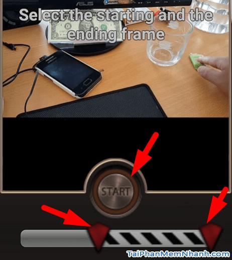 chọn vị trí đảo ngược hành động video
