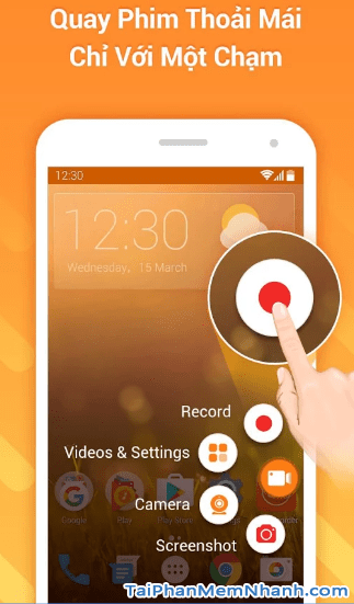quay màn hình điện thoại và bật máy ảnh trước miễn phí