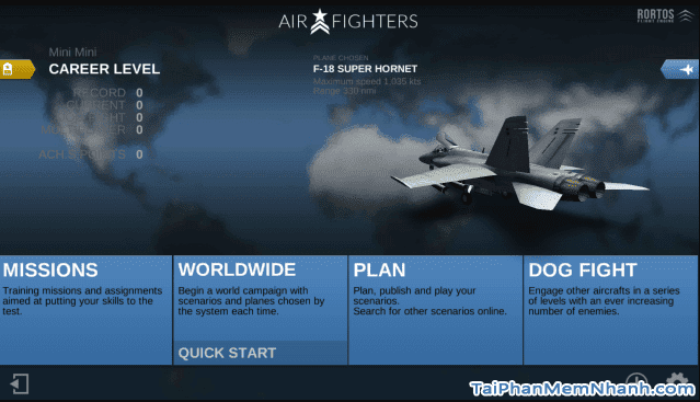 Tải game lái máy bay bắn nhau - AirFighters - Hình 1