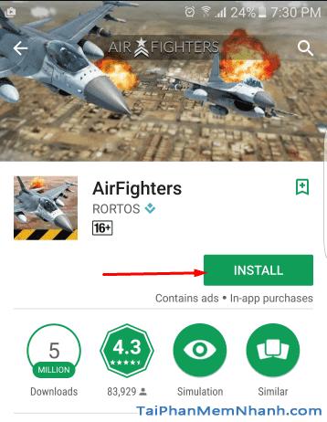 Tải game lái máy bay bắn nhau - AirFighters - Hình 7
