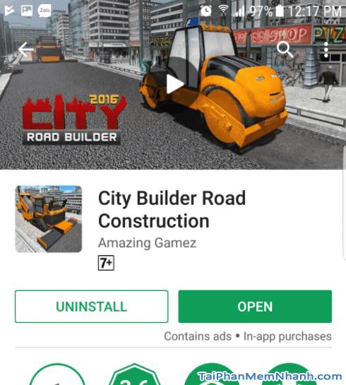 cài đặt game City Builder Road Construction hoàn tất