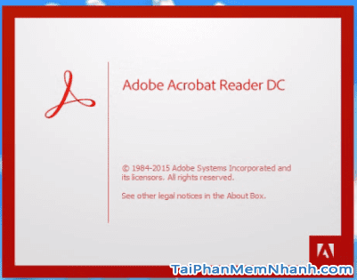Phần khởi động phần mềm đọc file PDF Adobe Acrobat reader