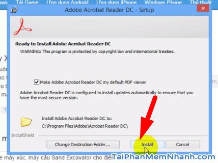 Cài đặt Adobe Acrobat Reader - Bước 4