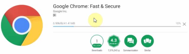 đợi quá trình cài đặt Chrome