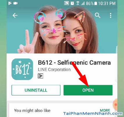 hoàn tất cài đặt camera b612