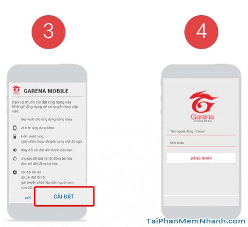 nhấn vào cài đặt để cài gas garena mobile - Hình 12