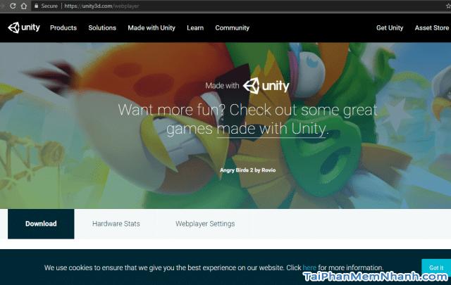 bước 1 cài đặt Unity Web Player hình 4