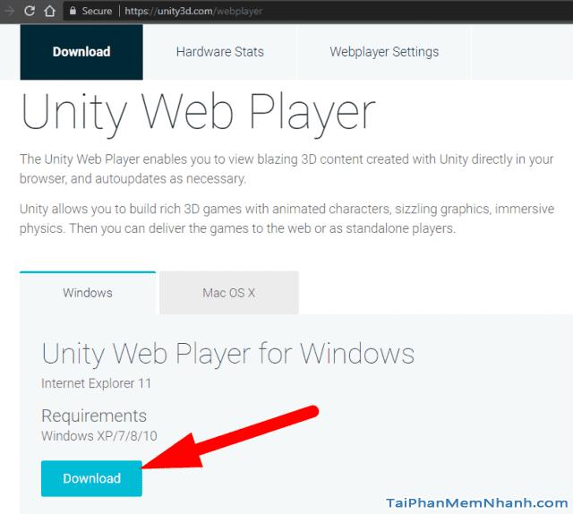 cài đặt Unity Web Player bước 2 hình 5