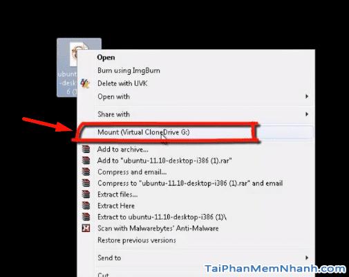 Mở file ISO bằng Virtual CloneDrive - Hình 4