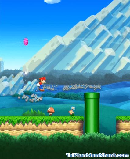Mario đang nhảy qua nấm và chướng ngại vật - Hình 4