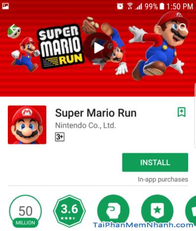 nhấn install để cài Super Mario run - Hình 8