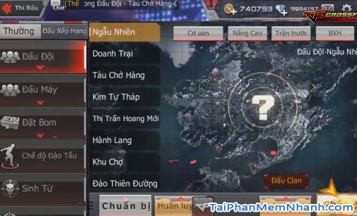 các chế độ, bản đồ trên game cf mobile