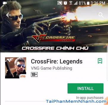 nhấn nút cài đặt game cf mobile