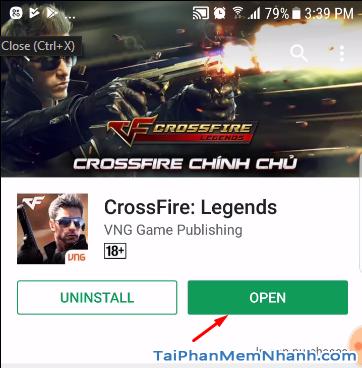 hoàn tất cài đặt game đột kích mobile