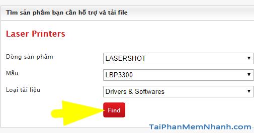 tìm driver canon lbp 3300