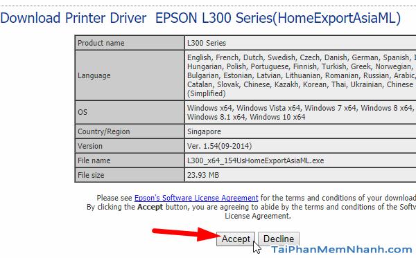 tải driver Epson L300