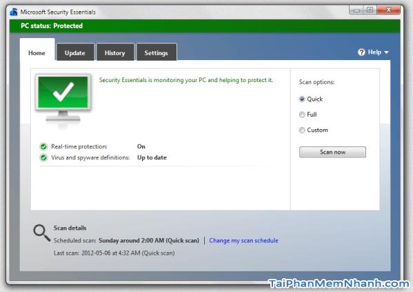 Tải Microsoft Security Essentials - Ứng dụng hỗ trợ diệt Virus cho Windows + Hình 2