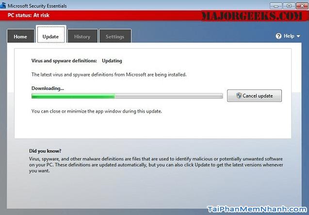 Tải Microsoft Security Essentials - Ứng dụng hỗ trợ diệt Virus cho Windows + Hình 4