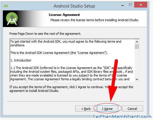 đồng ý chính sách android studio