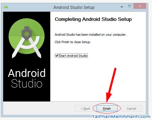 cài đặt android studio hoàn tất