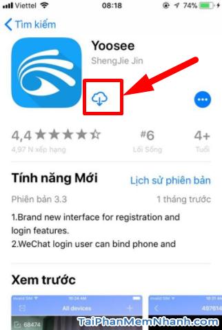 Cách cài đặt YooSee cho iPhone - Hình 7 nhấn vào đám mây