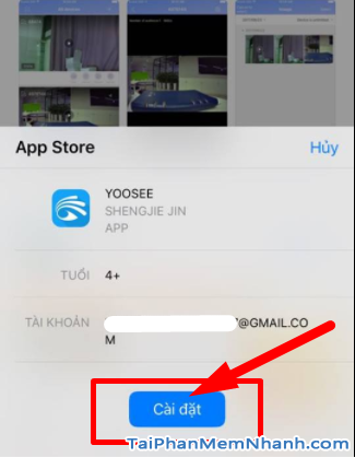 Cách cài đặt YooSee cho iPhone - Hình 8 nhấn cài đặt để cài yoosee