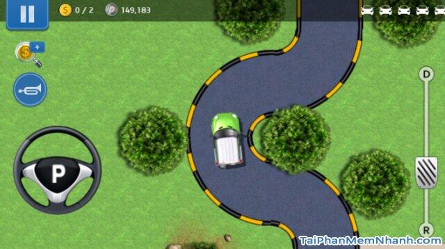 luyện tập lái xe vào đường vòng quay co