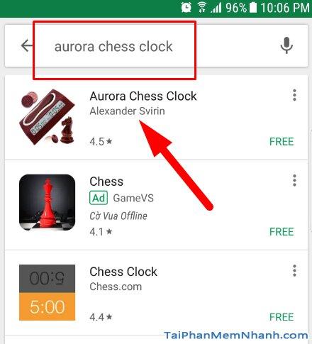 tìm từ khóa Aurora Chess Clock