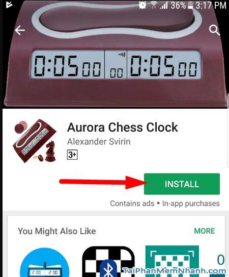 nhấn vào install để cài đặt đồng hồ cờ tướng